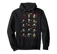 Friends Pixel Halloween Icons Scary Horror Movies Premium T Shirt Hoodie Black