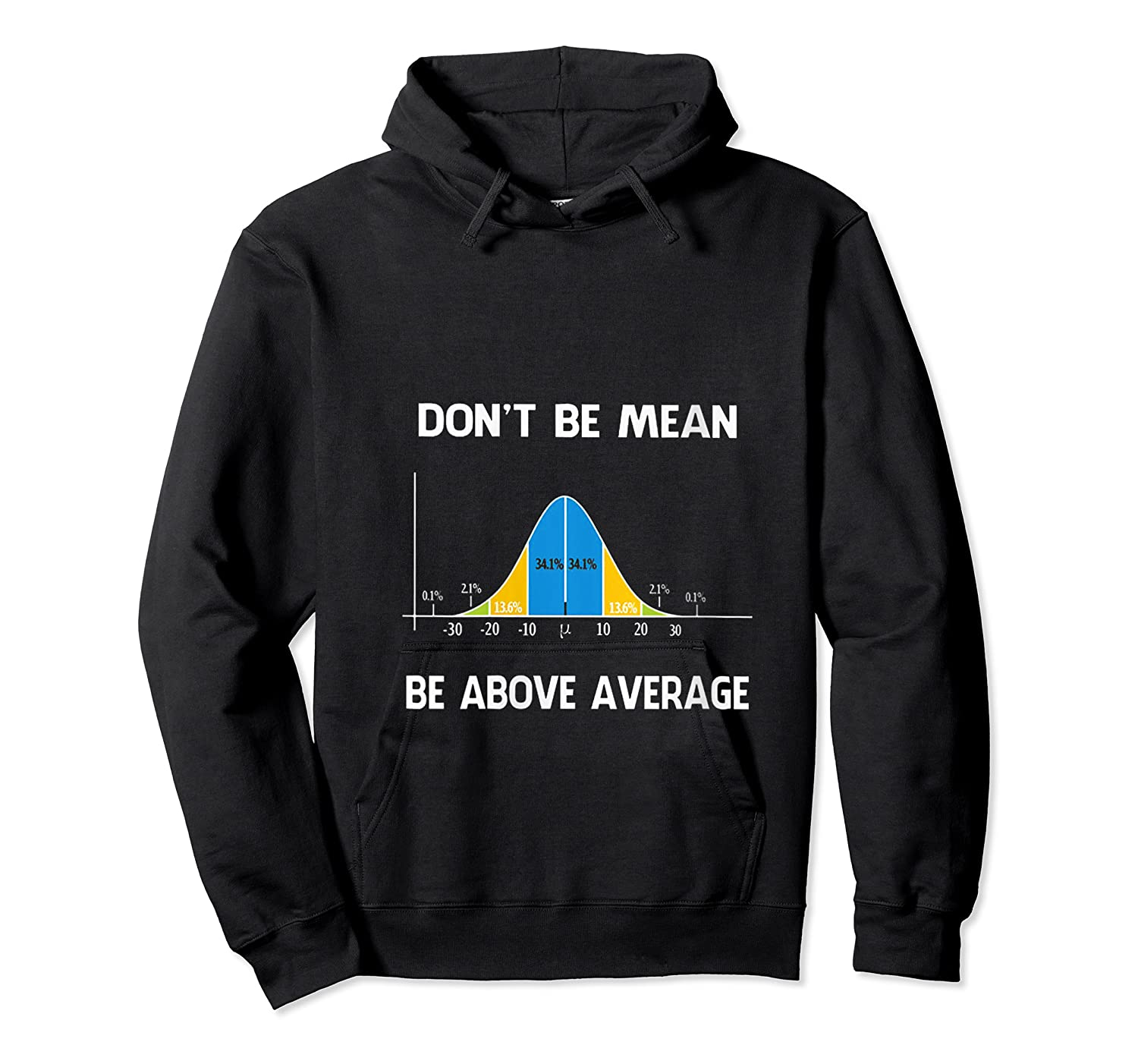 Don T Be Mean Be Above Average Funny Math Lover Gift T Shirt Unisex Pullover Hoodie