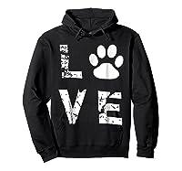 Love Animal Pet Dog Cat Paw Valentine S Day Funny T Shirt Hoodie Black