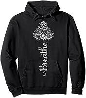 Breathe Mandala Lotus Meditation Yoga T-shirt Om Breathing T-shirt Hoodie Black