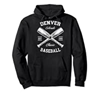 Denver Baseball, Classic Vintage Colorado Retro Fans Gift Baseball Shirts Hoodie Black
