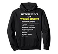 Witch Hunt Or Which Hunt 9 Reasons To Impeach Trump T Shirt Hoodie Black