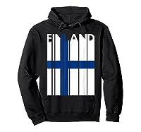 Finland Vintage Finland Flag Finnish Flag Shirts Hoodie Black