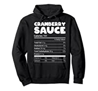 Cranberry Sauce Nutrition Funny Christmas Matching Costume Shirts Hoodie Black