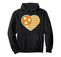 Tennessee Flag Shirt Vintage Distressed Usa Heart T Shirt Hoodie Black