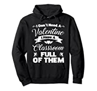 Tea Valentines Day Tshirt Funny Class School Gift Unisex Hoodie Black