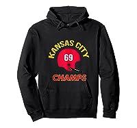 Retro Kansas City Football Helmet Vintage Kc 69 Champs Shirts Hoodie Black
