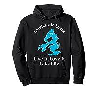 Lauderdale Lakes Wi Lake Life T-shirt Wisconsin Fans Tee Hoodie Black