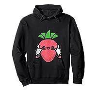 Strawberry Rock Roll Rocker Gift Sign Of Horns Shirts Hoodie Black