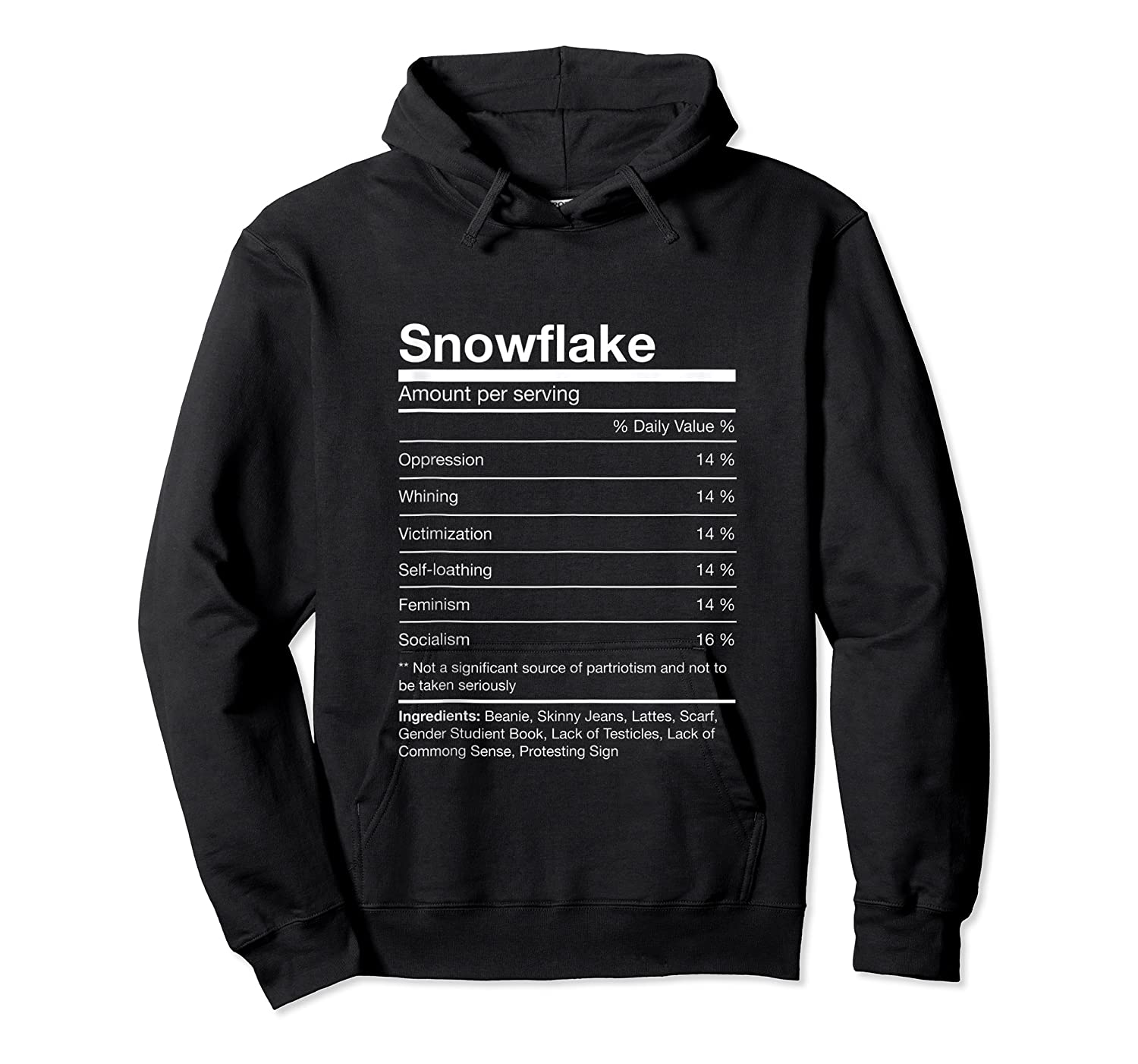 Funny Snowflake Nutrition Facts Family Christmas Parody Tank Top Shirts Unisex Pullover Hoodie
