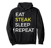 Beef Steak, Meat Bbq Gift Shirts Hoodie Black