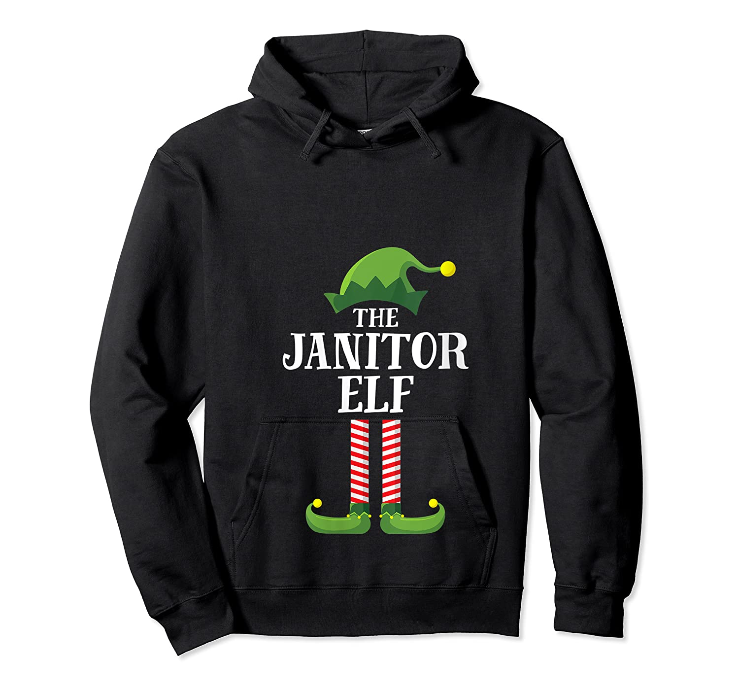 Janitor Elf Matching Family Group Christmas Party Pajama T-shirt Unisex Pullover Hoodie