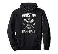 Houston Baseball Vintage Look Distressed 1962 Tshirt Hoodie Black