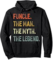 Funcle The Man The Myth The Legend Uncle Father Day Gift T-shirt Hoodie Black