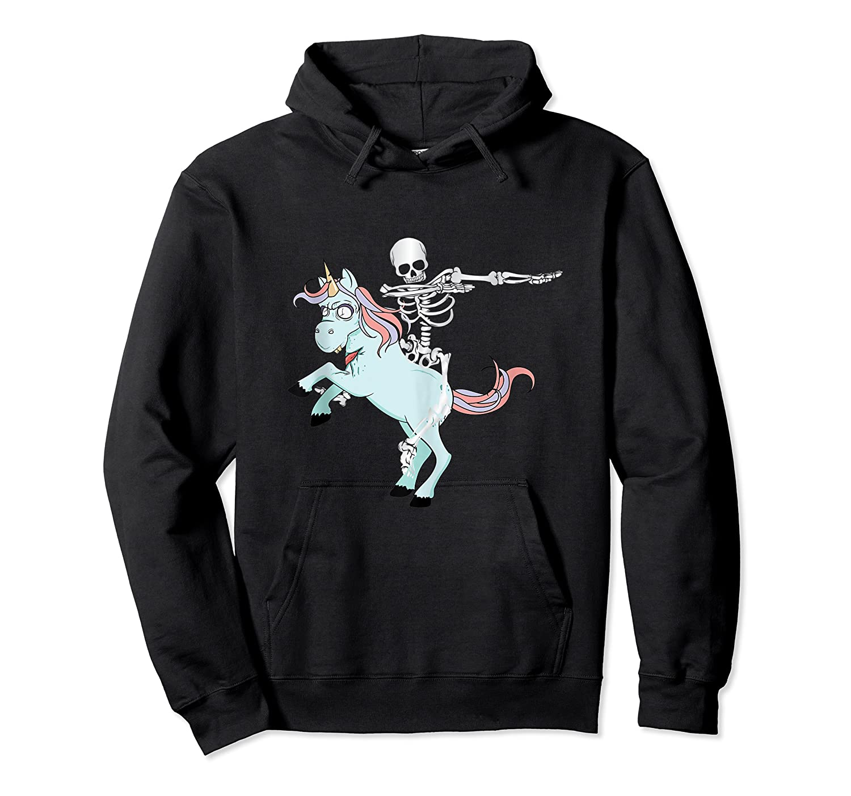 Skeleton Riding Zombie Unicorn Cute Halloween Tank Top Shirts Unisex Pullover Hoodie