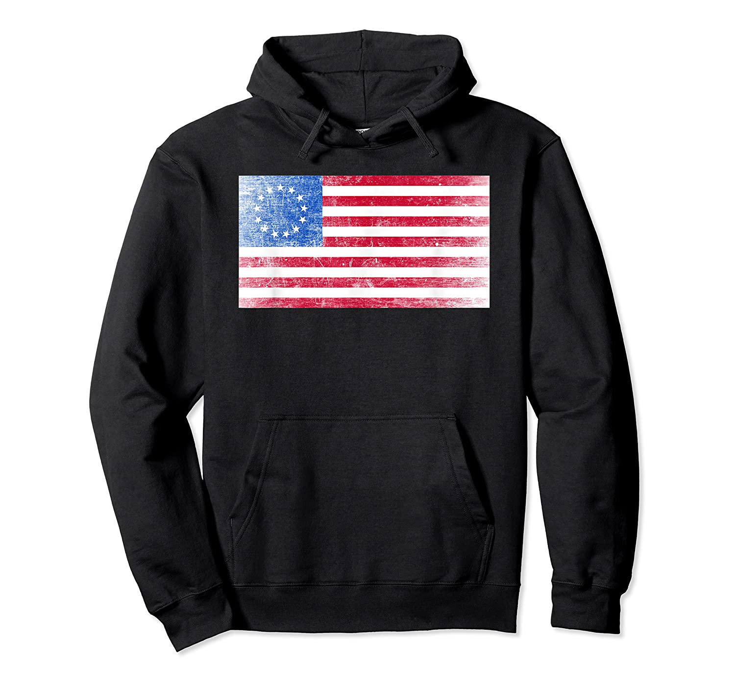 B Ross Flag Of Usa Weathered Shirts Unisex Pullover Hoodie