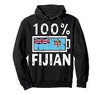 Fiji Flag T Shirt 100 Fijian Battery Power Tee Hoodie Black