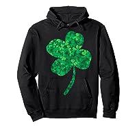 Shamrock Saint Patrick's Day Shirts Hoodie Black