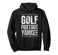 Golf Foxtrot Yankee Military Rude Adult S Gift Shirts Hoodie Black