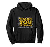 Thank You Veterans American Army Veterans Day Gift T Shirt Hoodie Black