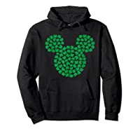 Disney Mickey Mouse Green Clovers St Patrick S Day T Shirt Hoodie Black