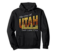 City Of Utah Shirt Salt Lake City Vintage State Gift T Shirt Hoodie Black