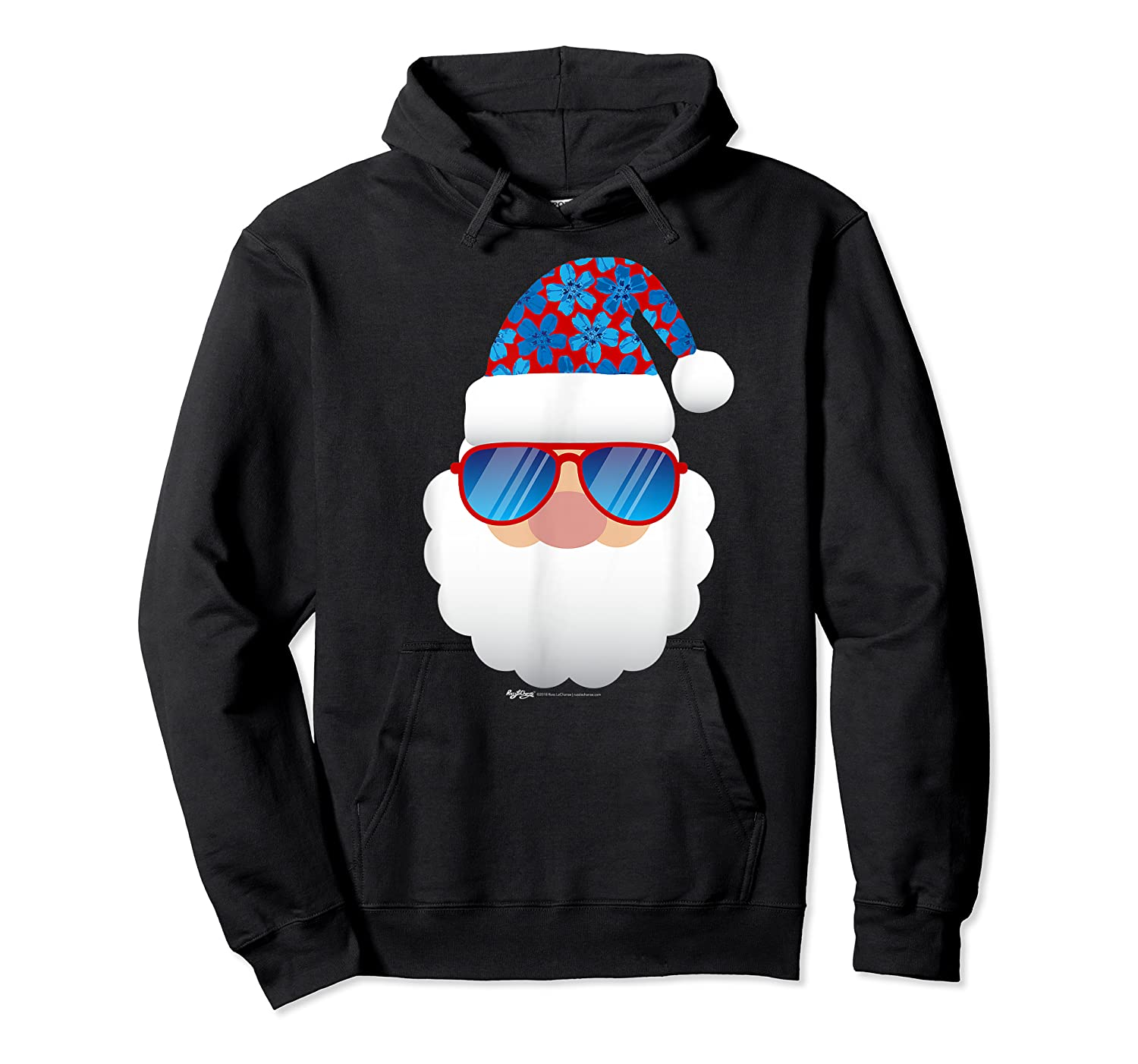 Cool Santa Emoticon In Sunglasses Christmas In July T Shirt Unisex Pullover Hoodie