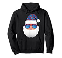Cool Santa Emoticon In Sunglasses Christmas In July T Shirt Hoodie Black
