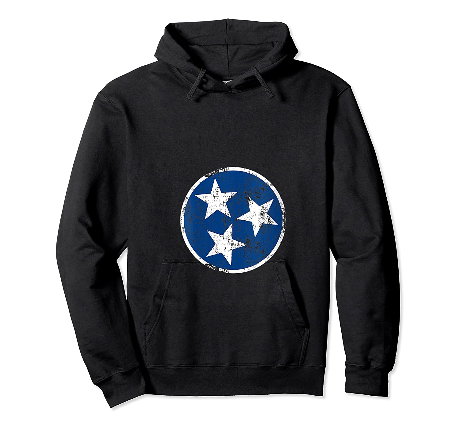 Tn 3 Star Distressed Blue And Tennessee State Flag Shirts Unisex Pullover Hoodie