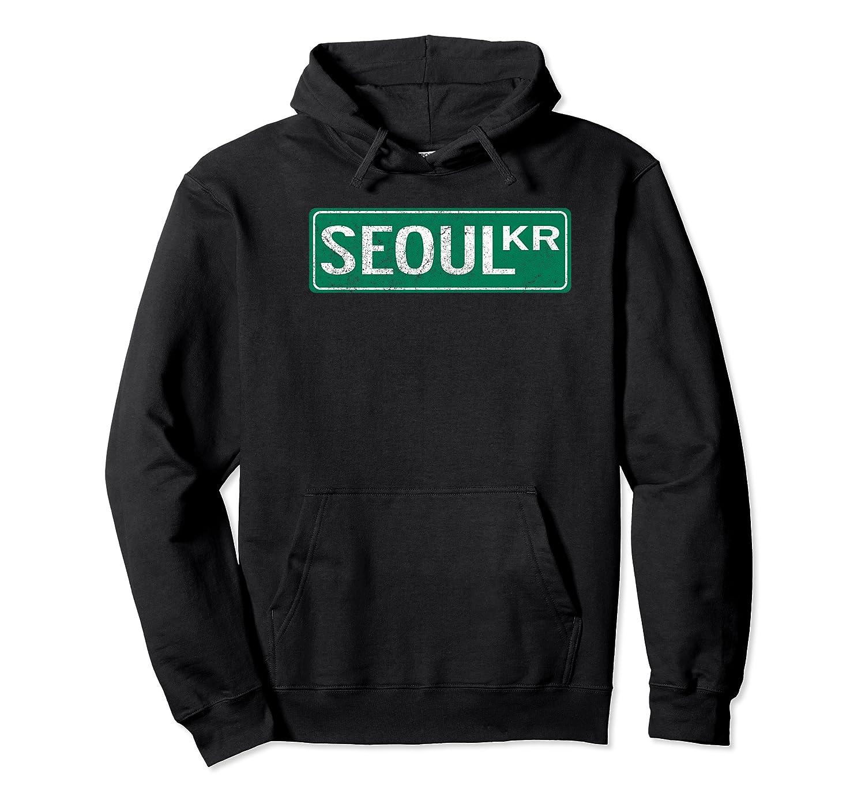 Retro Seoul South Korea Street Sign Premium T Shirt Unisex Pullover Hoodie