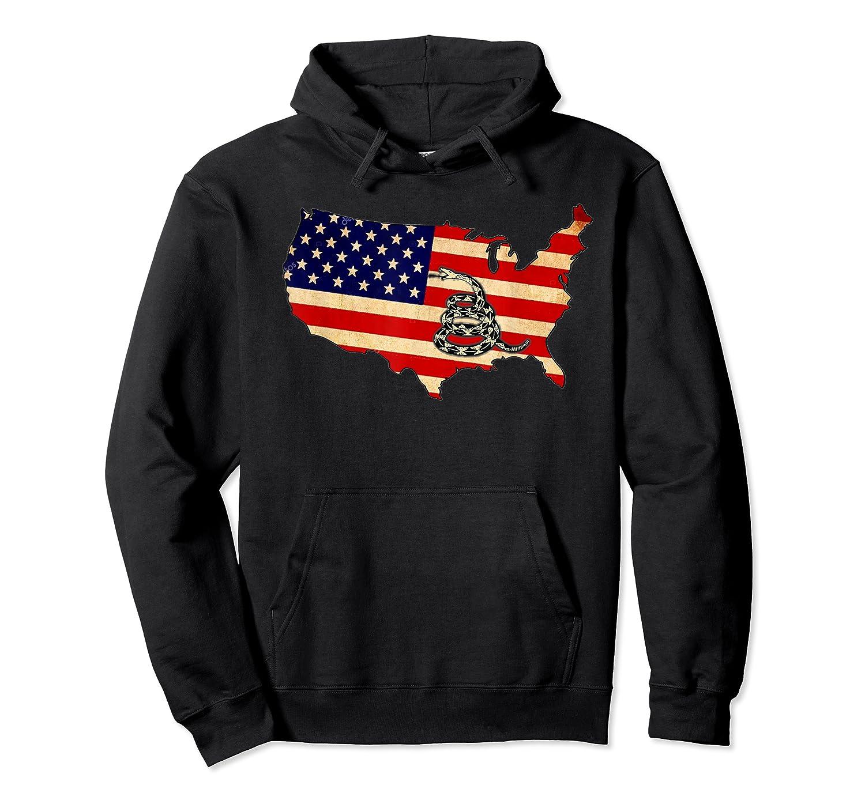 Gadsden Flag Snake Shirt -on Don't On Me Tread T-shirt T-shirt Unisex Pullover Hoodie