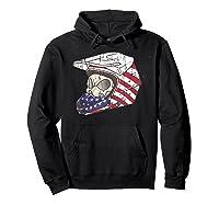 Usa Flag American Skull Helmet Patriotic Motorcyclist T Shirt Hoodie Black