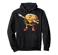 Cool Dabbing Burger Funny Street Dancer Hamburger Lover Gift T Shirt Hoodie Black