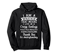 I M A Writer Gift For Authors Novelists Literature Funny T Shirt Hoodie Black
