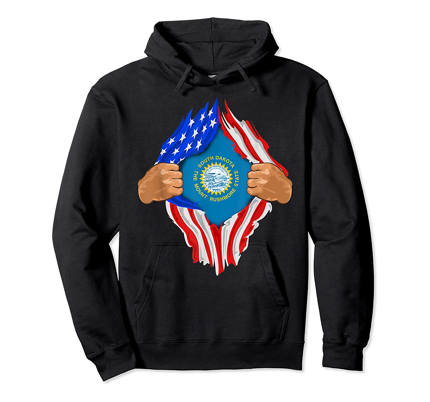 South Dakota Roots Inside State Flag American Proud Shirts Unisex Pullover Hoodie