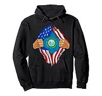 South Dakota Roots Inside State Flag American Proud Shirts Hoodie Black