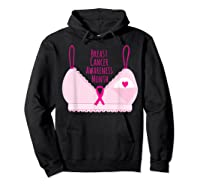 Breast Cancer Awareness Month Bra Annual Breast Check T Shirt Hoodie Black