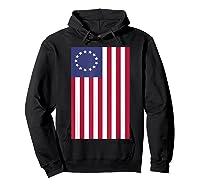 Patriotic 1776 American Betsy Ross Flag T-shirt Hoodie Black