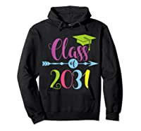 Class Of 2031 Grow With Me Kindergarten Graduate Gift T-shirt Hoodie Black