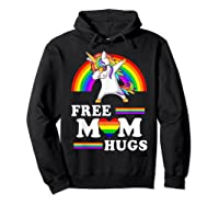 Free Mom Hugs Unicorn Lgbt Pride Rainbow Gift Shirts Hoodie Black
