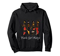 Black Girl Magic Queen Melanin African American T-shirt Hoodie Black