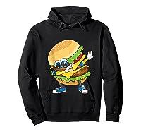 Cool Dabbing Burger Funny Street Dancer Hamburger Lover Gift Tank Top Shirts Hoodie Black