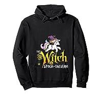 Unicorn Pony This Witch Is Spook Tacular Cute Girls Kawaii Shirts Hoodie Black