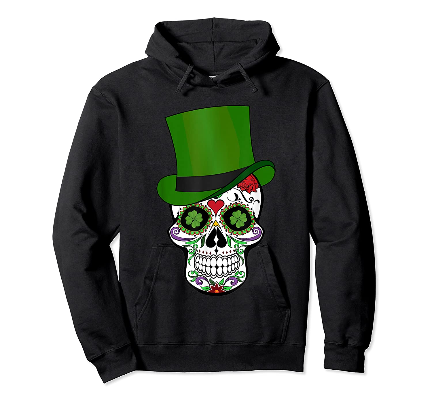 Sugar Skull St Patrick S Day T Shirt Saint Patty S Day Gift Unisex Pullover Hoodie