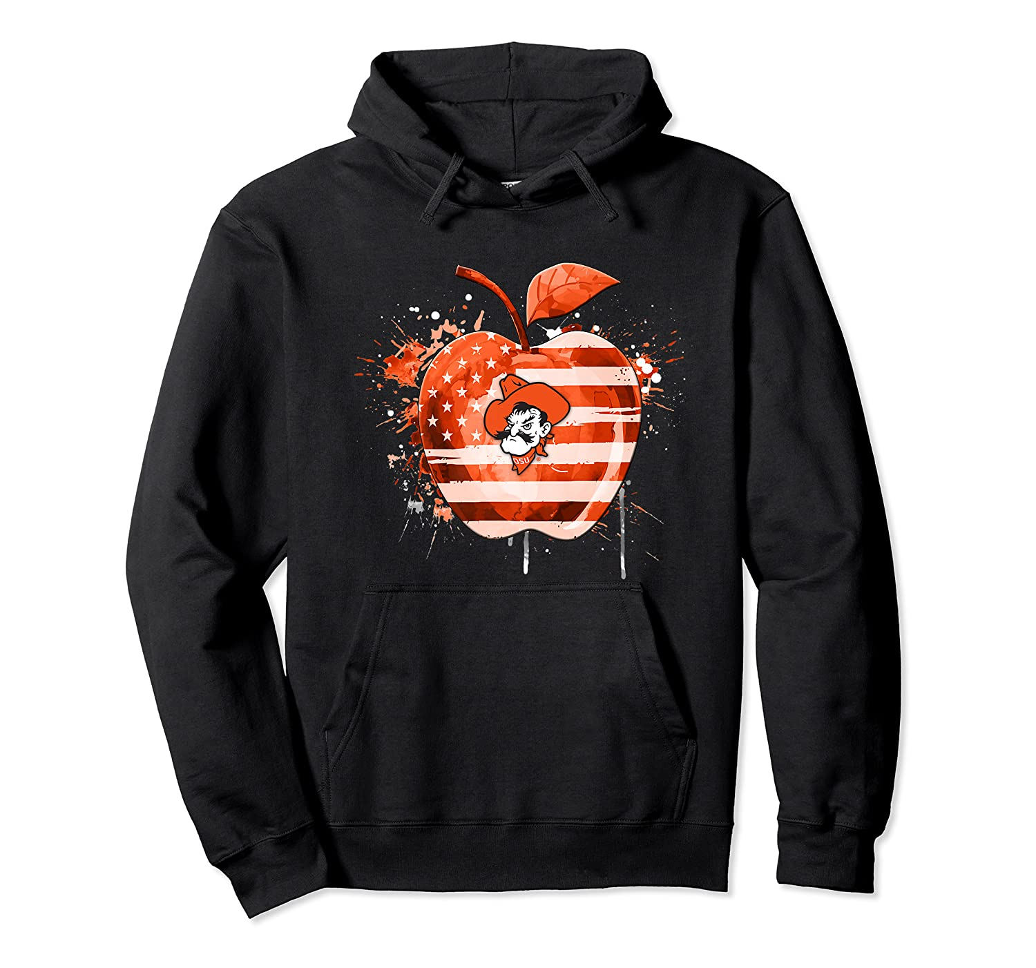 Oklahoma State Cow Nation Flag T Shirt Apparel Unisex Pullover Hoodie