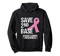 Save 2nd Base Breast Cancer Awareness Month Pink Ribbon Gift Tank Top Shirts Hoodie Black