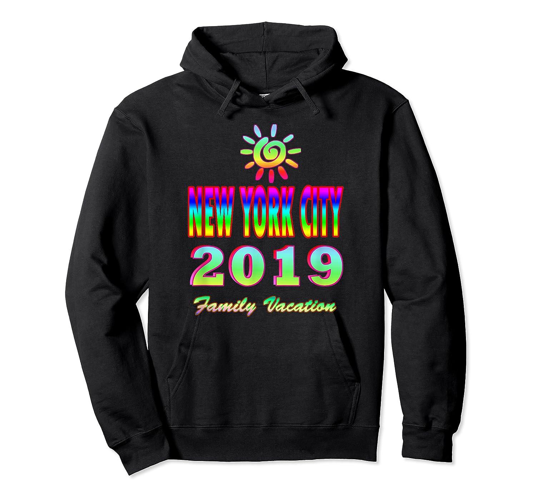 New York City Family Vacation 2019 Spiral Sun Rainbow T Shirt Unisex Pullover Hoodie