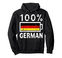 Germany Flag T Shirt 100 German Battery Power Tee Hoodie Black