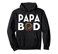 S Donut Papa Bod T Shirt Funny Father S Day Gift Hoodie Black