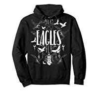Fly Eagles Fly Funny Sport And Wildlife Animal Back Print Shirts Hoodie Black